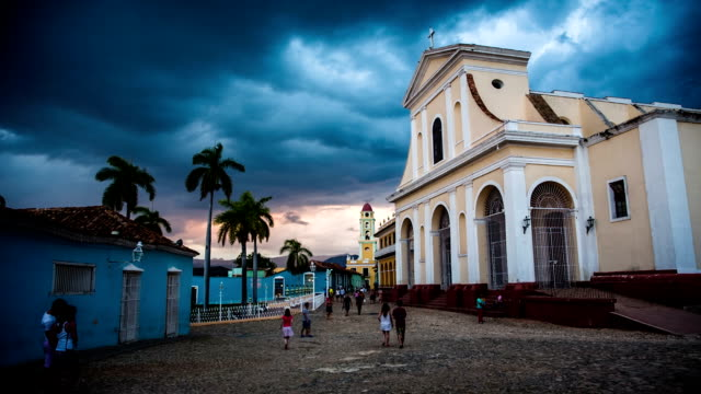 cuba: travel : trinidad historical town square - sancti spiritus province stock videos and b-roll footage
