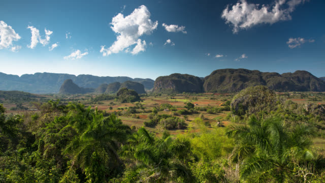 cuba: travel : vinales valley, cuba - time lapse - limestone stock videos and b-roll footage