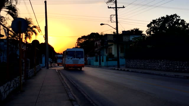 cuba way of life or lifestyle and transportation scenes as santa clara city wakes up on a weekday. - weekday stock videos & royalty-free footage