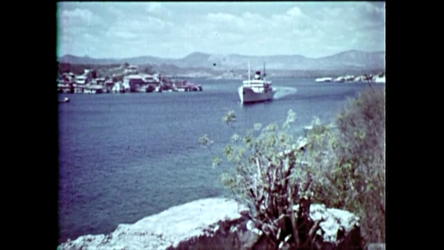 historic footage showing images of the santiago de cuba city. it shows the our lady of assumption cathedral, the saint peter of the rock fort, a... - modern rock stock videos & royalty-free footage