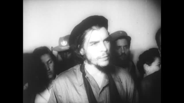 a historical image of che guevara at the very beginning of the cuban revolution historic footage of the first years of the cuban revolution... - latin america stock videos & royalty-free footage