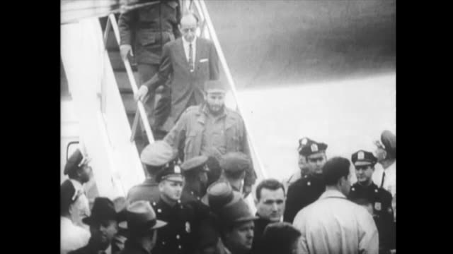 amid all poor relations between the island and united states, fidel castro visits new york city for the second time. historic footage of the first... - 1959 stock videos & royalty-free footage