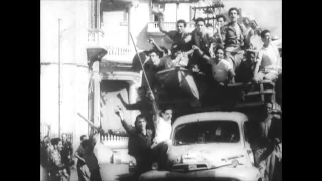 at the beginning fidel castro had immense support on the caribbean island the images show the emotions of crowds of cubans historic footage of the... - 1959 stock videos & royalty-free footage