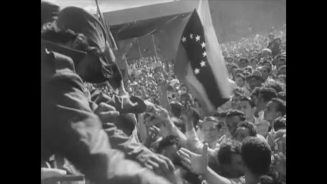 at the beginning of the cuban revolution fidel castro visits venezuela as his first international trip after the triumph historic footage of the... - 1959 stock videos & royalty-free footage