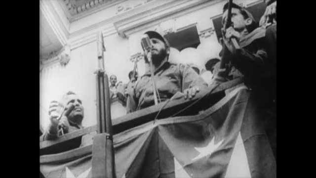during the october crises the oas condemned the actions of cuba leading to raul roa leaving the room. afterward, in this video, fidel castro slams... - 1959 stock videos & royalty-free footage