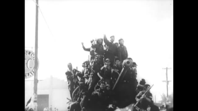 fidel castro and his rebel army enter the capital city after batista fled the nation. historic footage of the first years of the cuban revolution.... - 1959 stock videos & royalty-free footage
