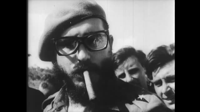 images of fidel castro at the beginning of the cuban revolution. historic footage of the first years of the cuban revolution. historical audio is... - audio available video stock e b–roll