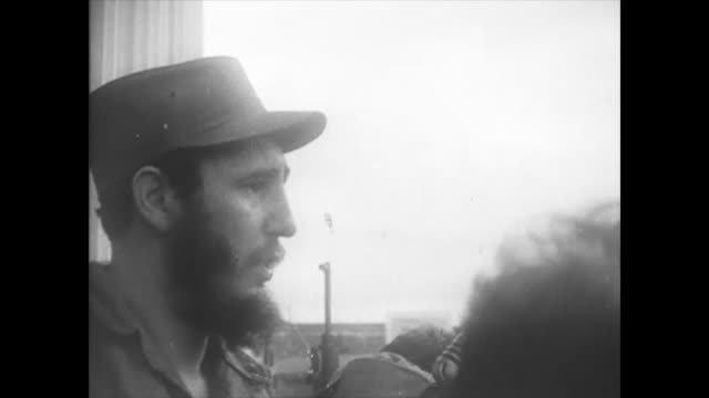 the cuban leader addresses the crowd in diverse forms. one of them is from revolution square. historic footage of the first years of the cuban... - audio available video stock e b–roll
