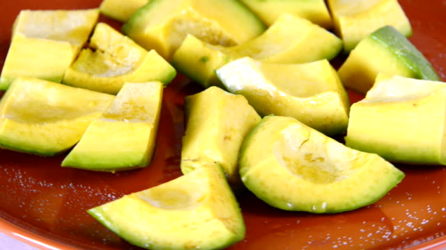 Cuban Cuisine: avocado pieces served for salad