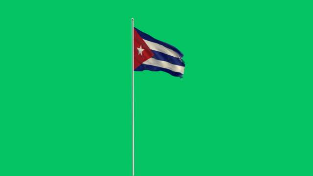 kubanische Flagge Rising