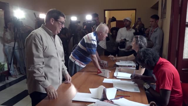 cuban foreign minister bruno rodriguez parrilla says that the new constitution reflect the diversity of the cuban society and at the same time a... - foreign minister stock videos and b-roll footage