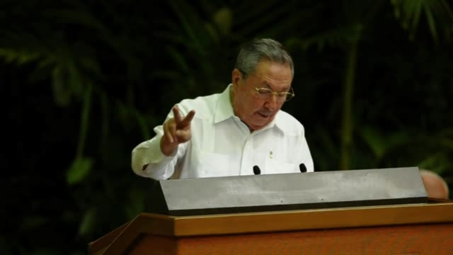 cuban president raul castro said saturday that he backed political term limits of 10 years at most for top leadership spots in a country he and his... - fidel castro stock videos and b-roll footage