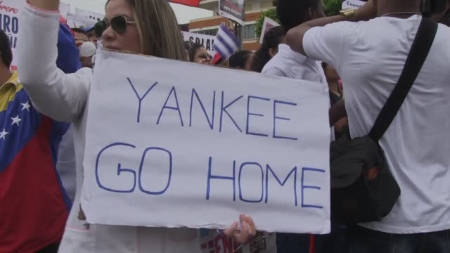 Cubans and Venezuelans marched Friday on the island to express their solidarity with Nicolas Maduro's government and to denounce US sanctions against...