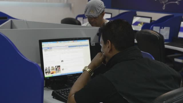 cubans barred from logging onto the internet at home on tuesday flocked to newly opened public access spots to surf an uncensored world wide web if... - colon stock videos and b-roll footage