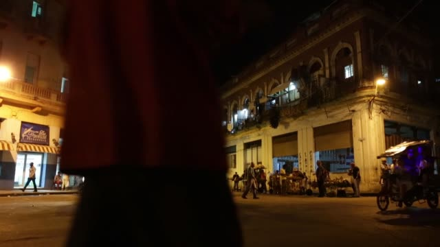cubans gather at an informal taxi stand looking for a ride home after shopping and working in the habana vieja neighbourhood january 20 2015 in... - taxi stand stock videos and b-roll footage