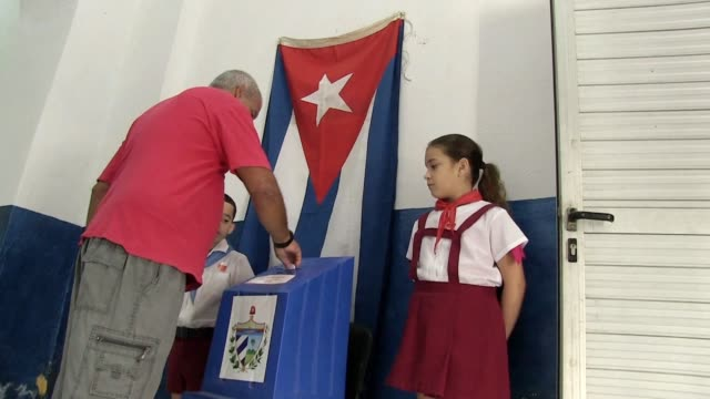 cubans vote in a referendum on a new constitution with the backdrop of mounting pressure from the united states and continued support for the... - referendum stock videos and b-roll footage