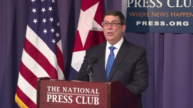 cuba's foreign minister thursday accused anyone claiming attacks took place against us diplomats in havana of deliberately lying adding the moment... - assertiveness stock videos & royalty-free footage