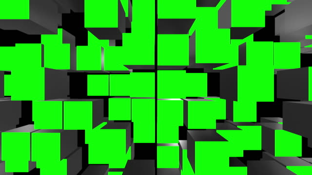 cube assemble green screen transitions - cube stock videos & royalty-free footage