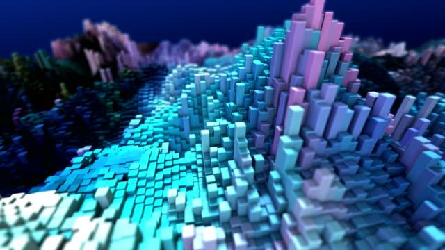 vidéos et rushes de cube blocks contexte abstrait - carré forme bidimensionnelle