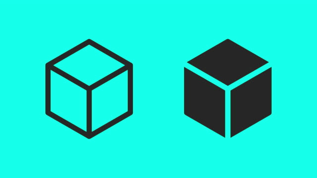 Cube Box Icons - Vector Animate