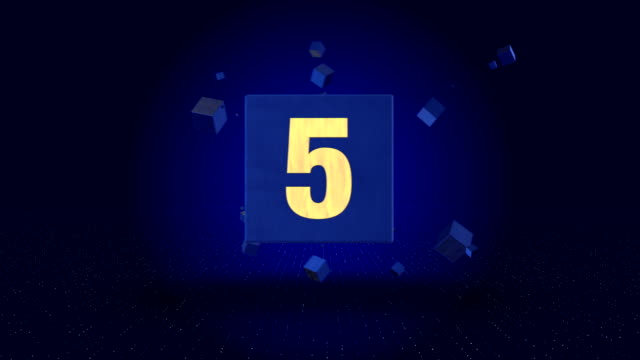 4k cube countdown - stock video - number 5 stock videos & royalty-free footage