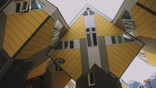 cube houses, rotterdam, the netherlands - cube stock videos & royalty-free footage