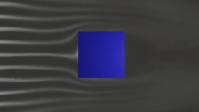 風洞内の立方体 - 空気力学点の映像素材/bロール