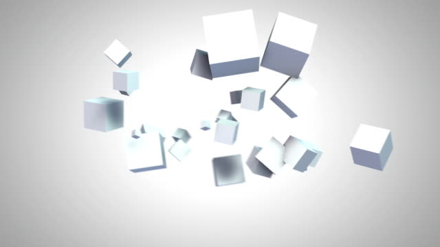 a cube morphs and changes in front of a white and a black background. - changing form stock videos & royalty-free footage