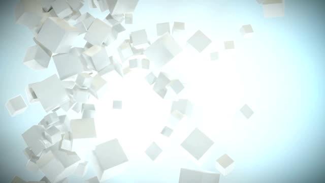 cube particle cloud white