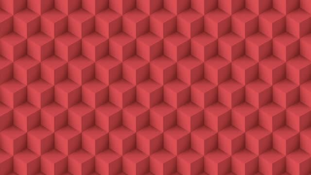 ピンク色のキューブポリ - ハイコントラスト点の映像素材/bロール