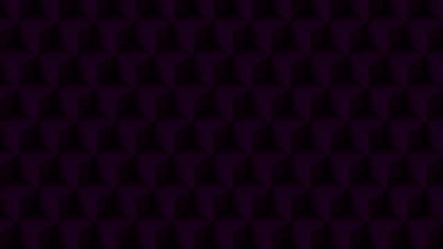 vídeos de stock, filmes e b-roll de cubo poli da cor roxa - articulação facetária