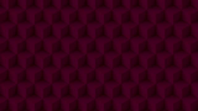 赤い色の立方体のポリ - ハイコントラスト点の映像素材/bロール