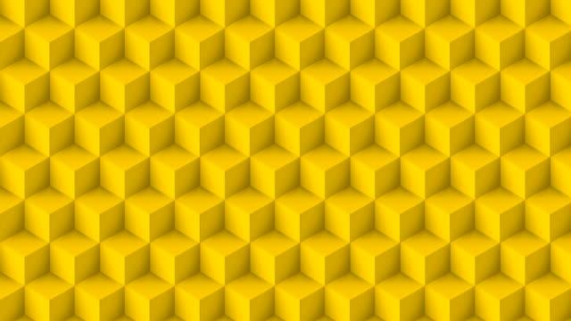 黄色の立方体ポリゴン - 色が変わる点の映像素材/bロール