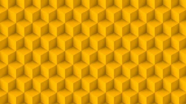 黄色のキューブポリゴン - ハイコントラスト点の映像素材/bロール