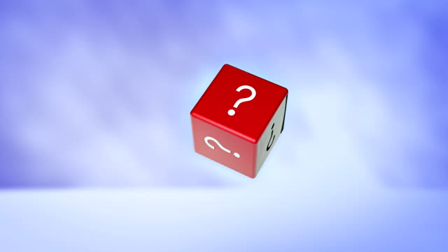 cube question - question mark stock videos & royalty-free footage