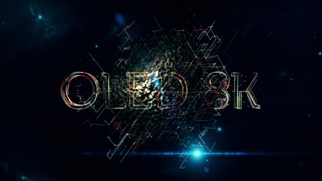 oled 8k cube - liquid crystal display television stock videos and b-roll footage