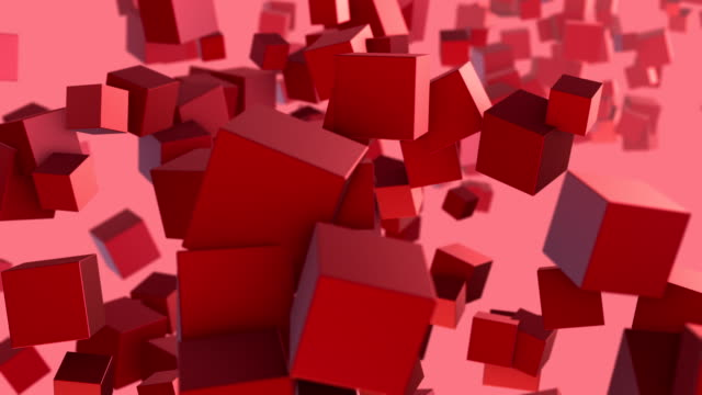 cubes abstract - block shape stock videos & royalty-free footage