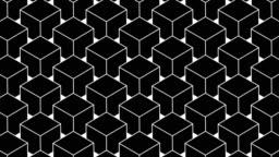 3D cubes rotating in loop