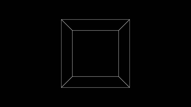 cubic 013: a wire-frame cube element rotates - cube stock videos & royalty-free footage