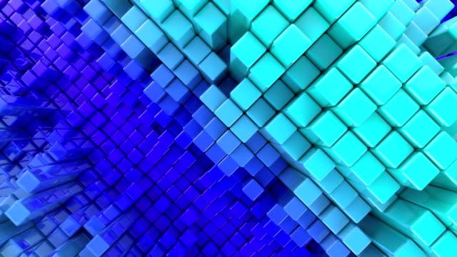 kubische hintergrund loop - cube stock-videos und b-roll-filmmaterial