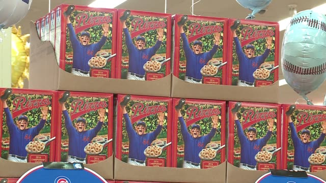 WGN Cubs first baseman Anthony Rizzo was at JewelOsco on May 3 to introduce his cereal RizzO's which will be carried exclusively at Chicagoarea...
