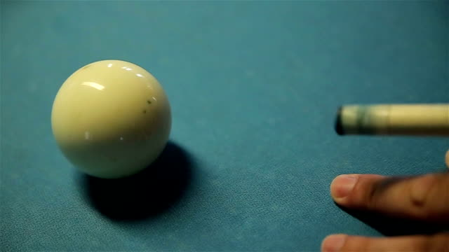 cue ball in billiards - carrom stock videos & royalty-free footage