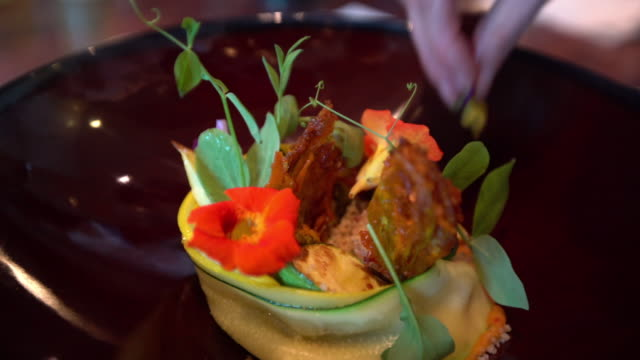 culinary art - garnish stock videos & royalty-free footage