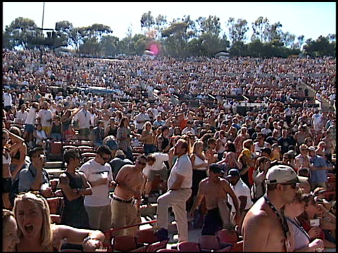 cult at the kroq weenie roast at verizon amphitheater in irvine california on june 23 2001 - kroq weenie roast stock videos & royalty-free footage