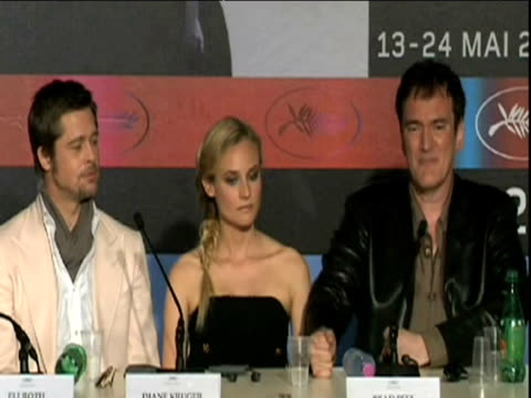 Cult director Quentin Tarantino comments on significance of Cannes film festival during press conference France 19 May 2009