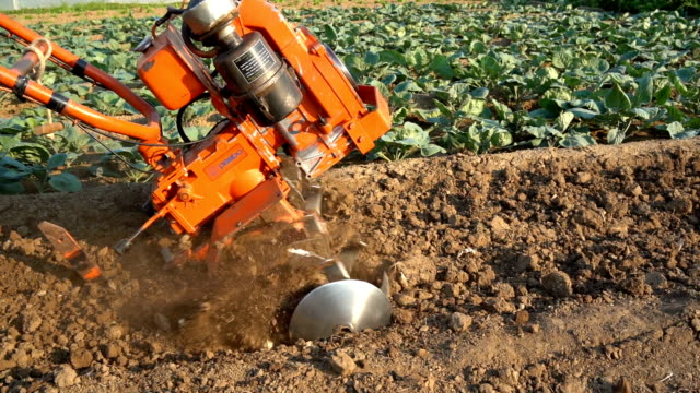 cultivator slowmotion - agricultural equipment stock videos & royalty-free footage