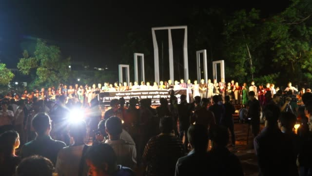 cultural activists teachers and people from all walks of life attend a candlelight vigil to pay homage to the people who have been killed in a... - candlelight stock videos & royalty-free footage