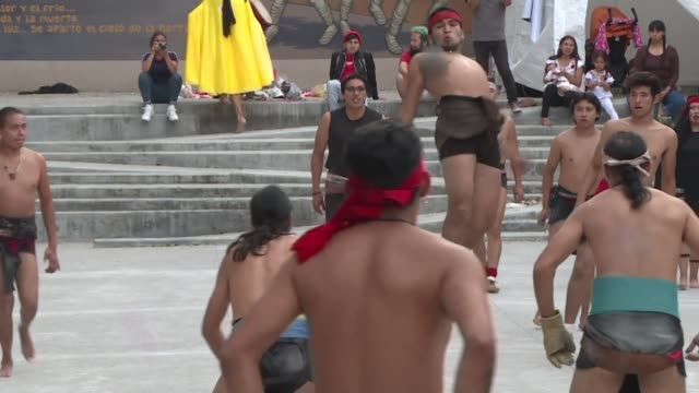 a cultural center in one of the oldest neighborhoods of mexico city is bringing back the mesoamerican ballgame a prehispanic sport that hasn't been... - latin american civilizations stock videos and b-roll footage