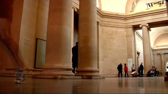 Cultural Olympiad launched ****FLASH ENGLAND London Tate Britain INT London 2012 Olympic Games Chief Lord Sebastian Coe running through the gallery...