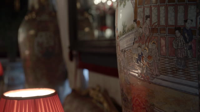 cultural urn close-up / marrakech, morocco - decorative urn stock videos and b-roll footage